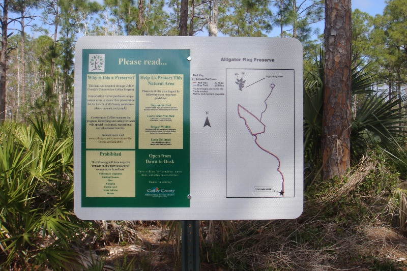 Preserve sign with trail map