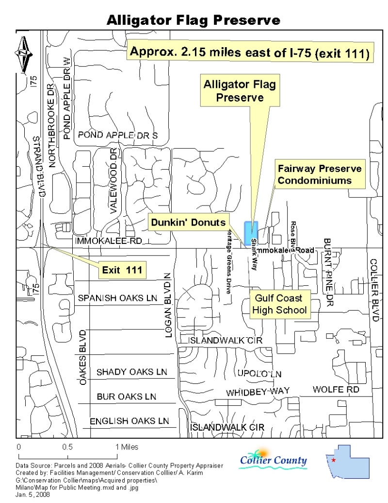 Alligator Flag Location map