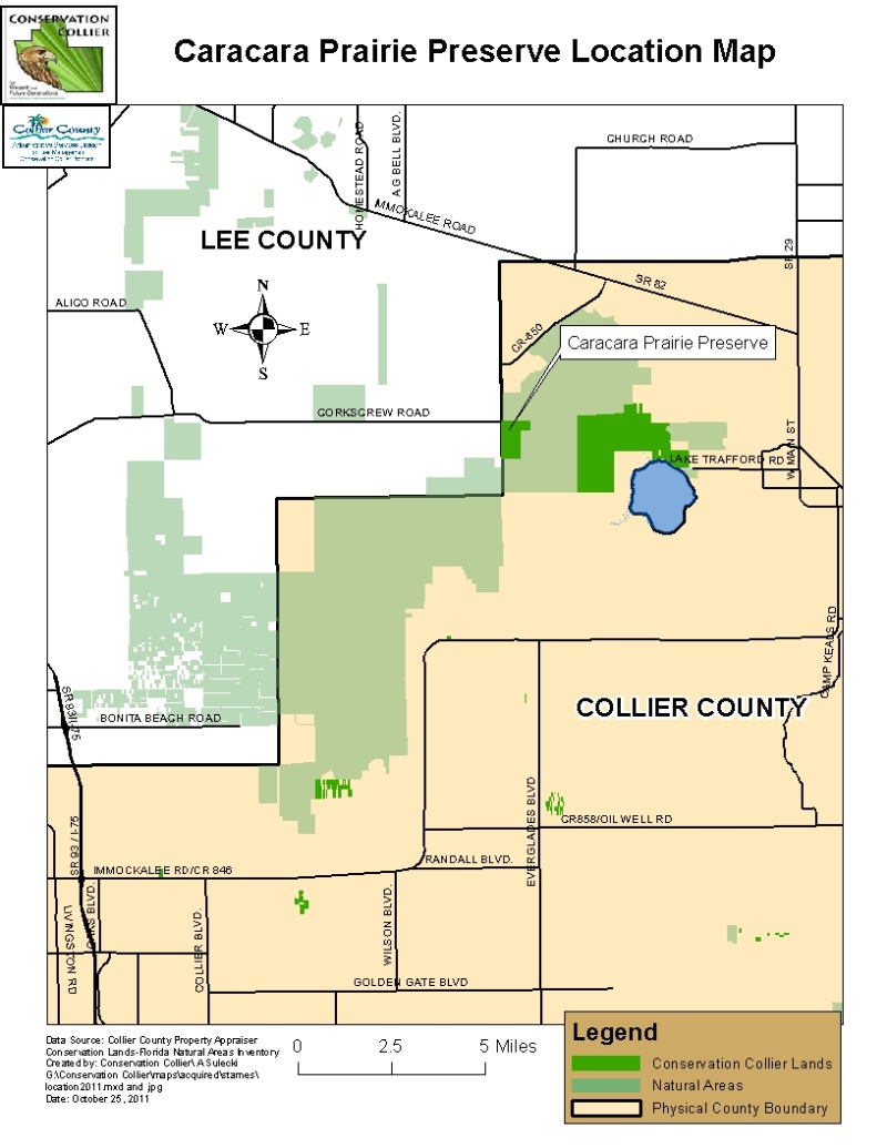 Caracara Prairie Location Map