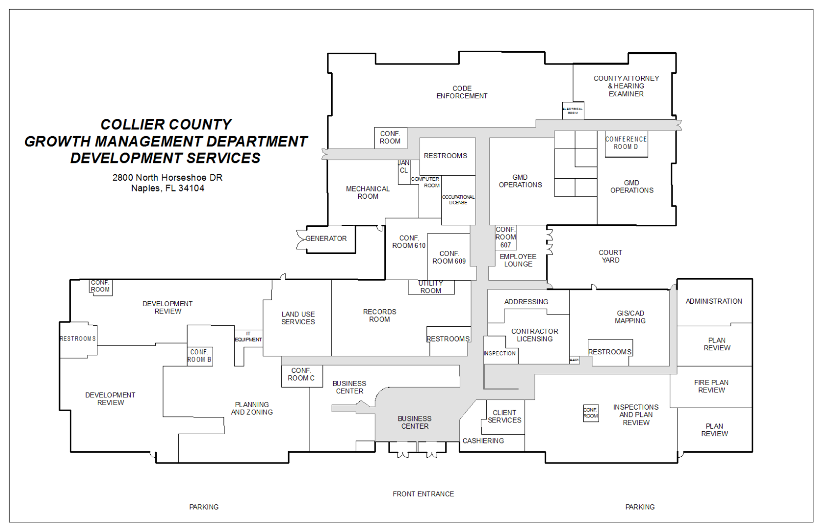 Map Of Naples Florida.Growth Management Department North Horseshoe Building Map Collier