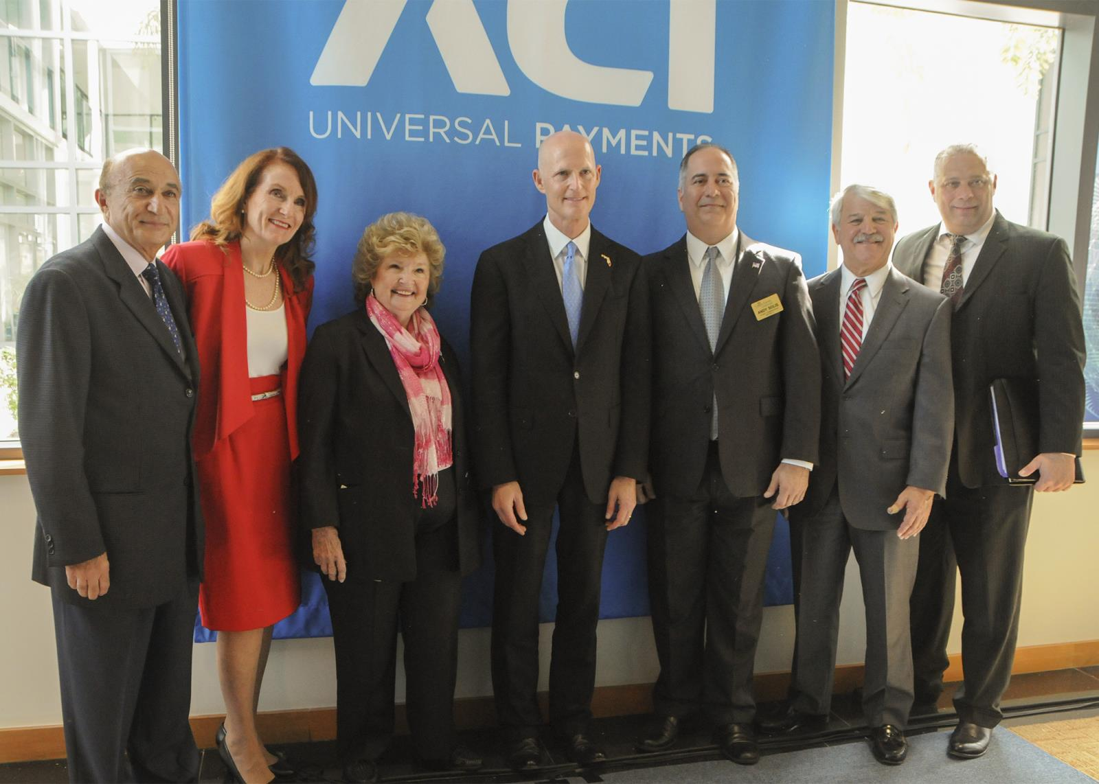 Commissioners  with Governor Rick Scott