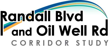 Randall Blvd and Oil Well Road Corridor Study logo
