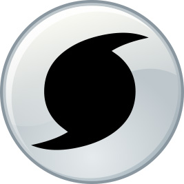 Hurricane Icon Button