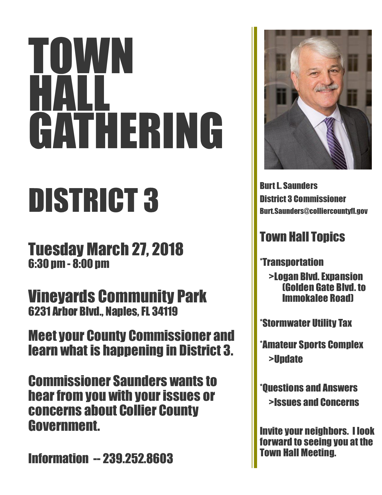 Town Hall Flyer March 2018