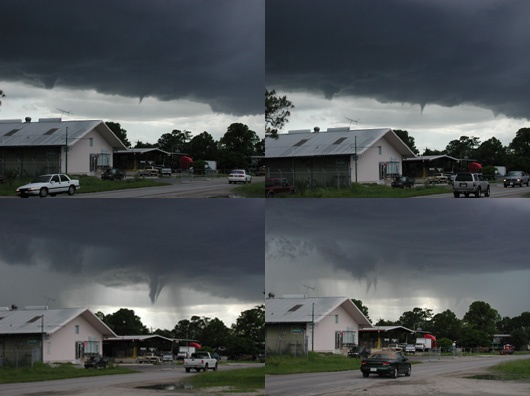 Funnel Clouds Over Immokalee on July 25, 2002