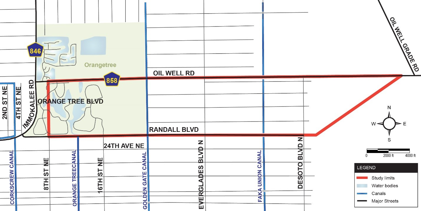 Randall map of project location