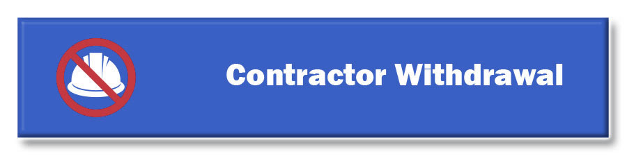 BUTTON LONG - CONTRACTOR WITHDRAWAL