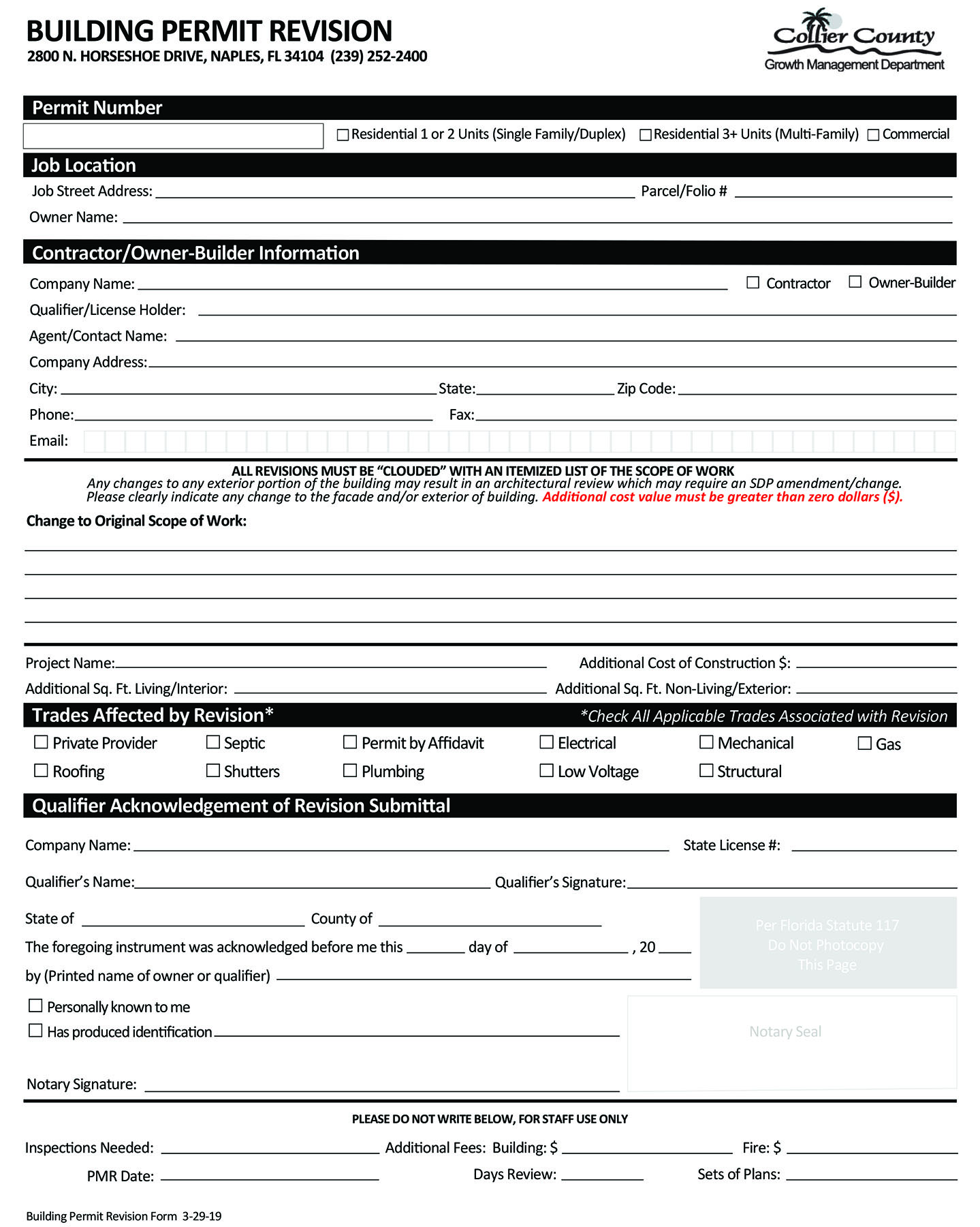 Application Forms Amp Submittal Requirements Collier