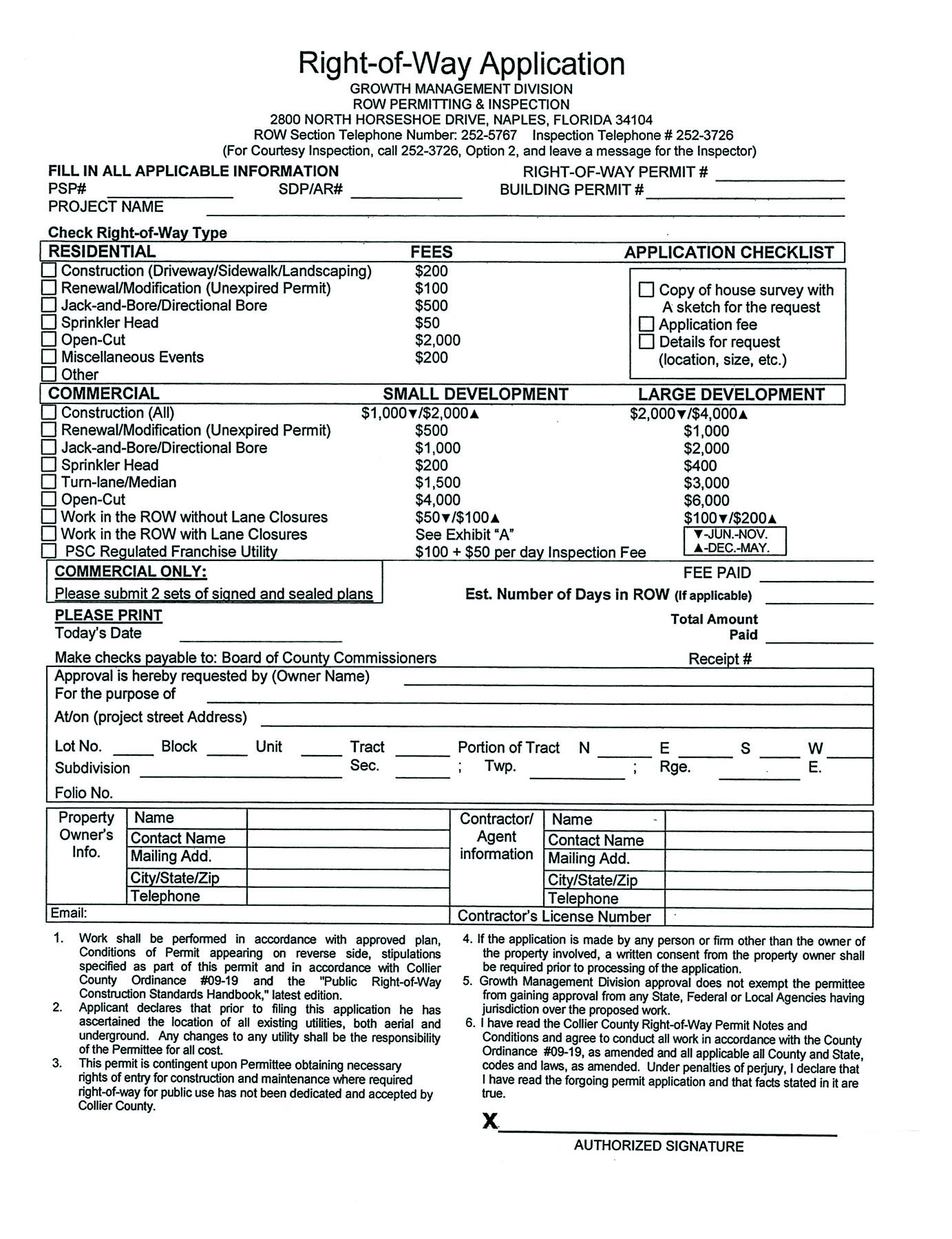 Application Forms & Submittal Requirements | Collier County, FL