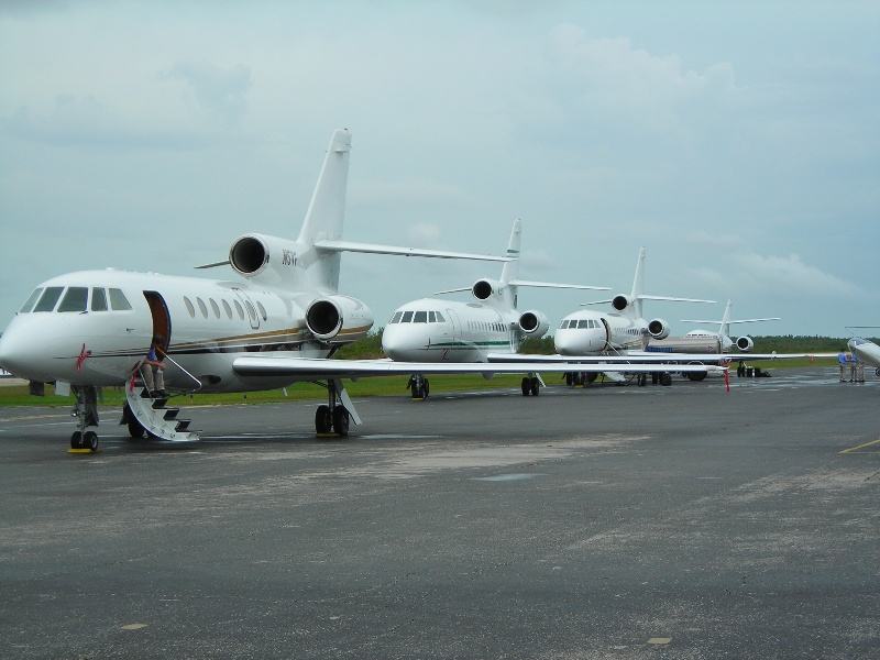 Planes lined up at Marco Island Airport
