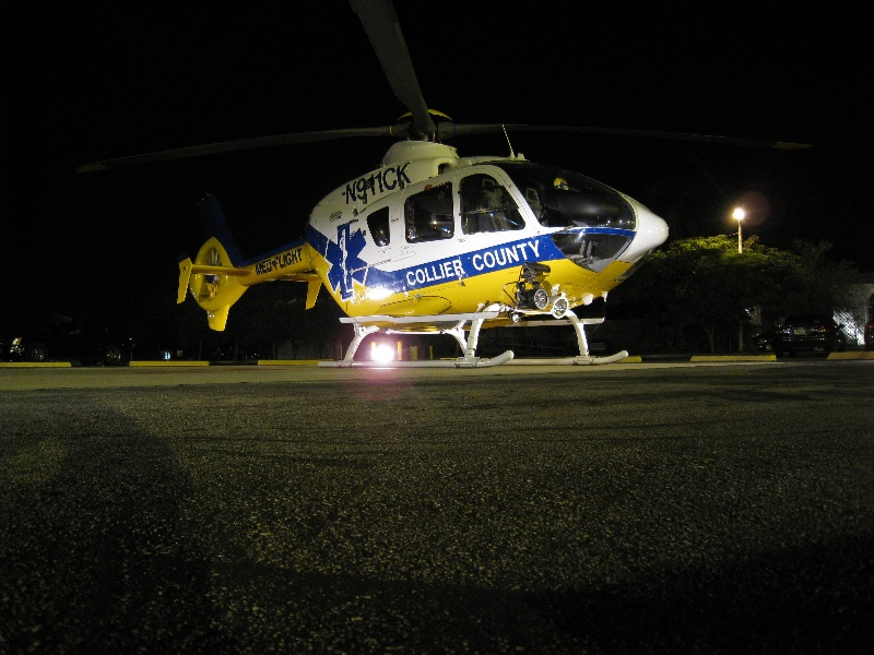 MedFlight Lee Memorial @ Night