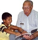 RSVP elder man and young boy