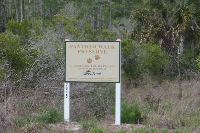 Panther Walk Preserve Sign