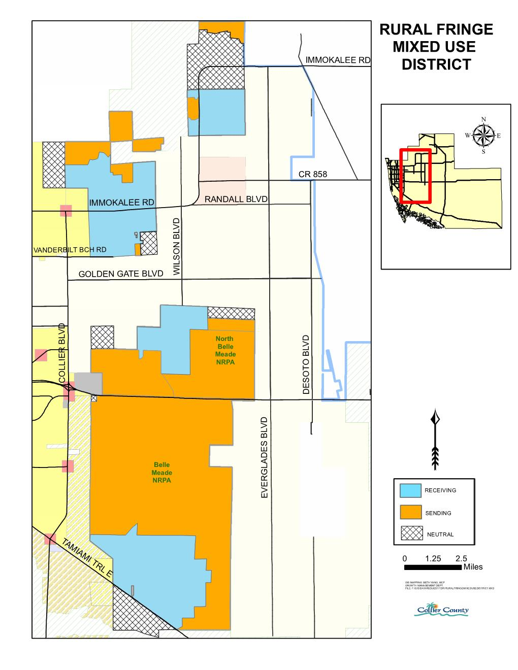 Rural Fringe Mixed Use District map