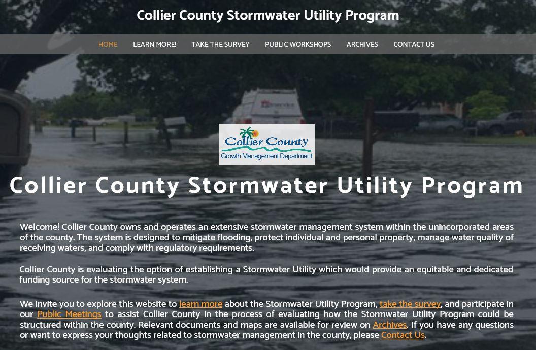 Utility webpage