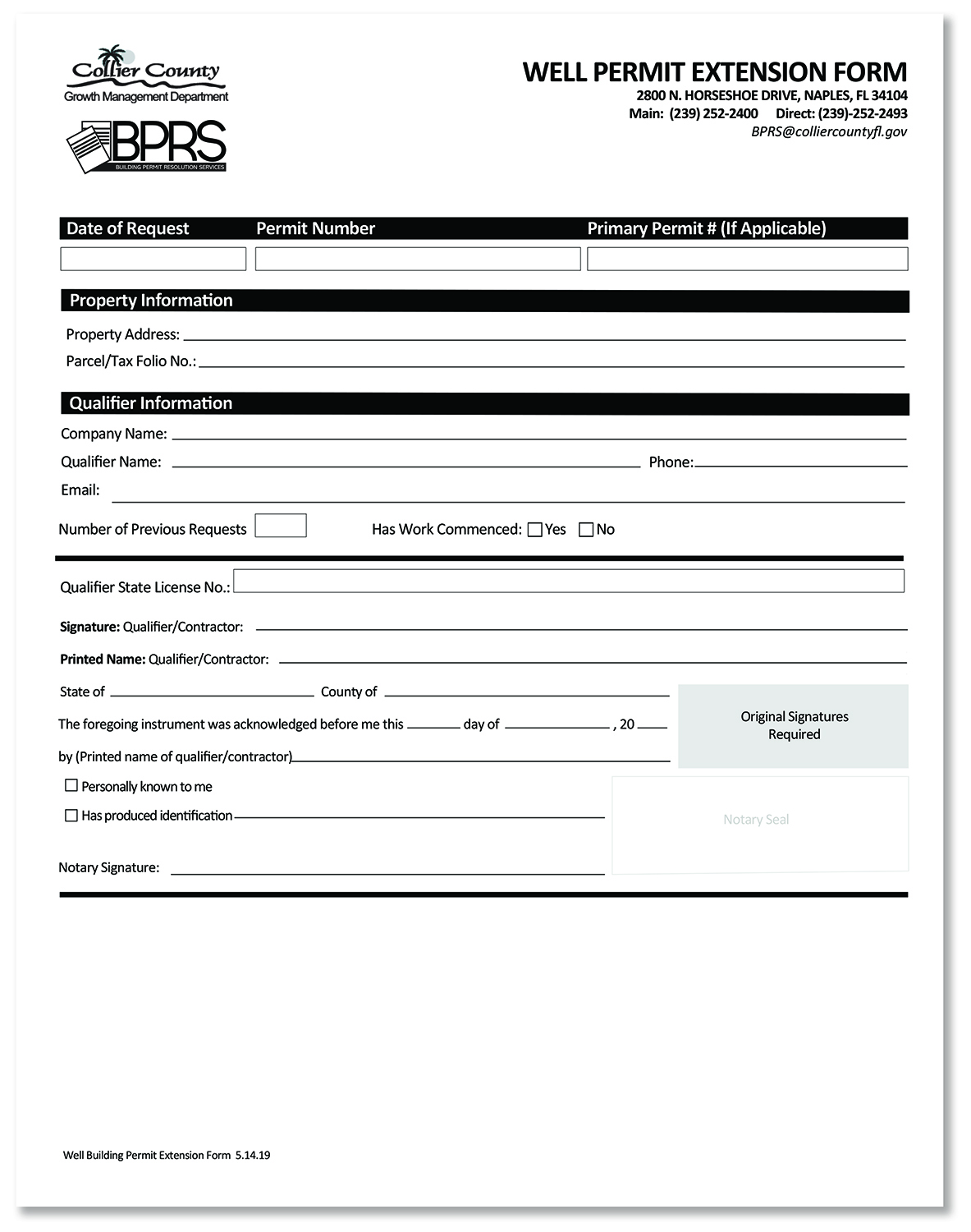 Well Permit Extension Form IMAGE