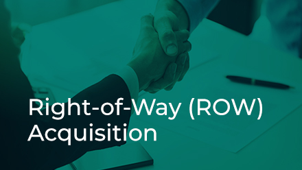 Right-of-Way (ROW) Acquisition Section button