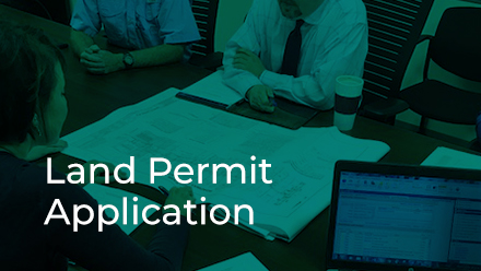 Development Review Land Permit Application button