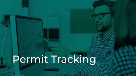 Development Review Permit Tracking button